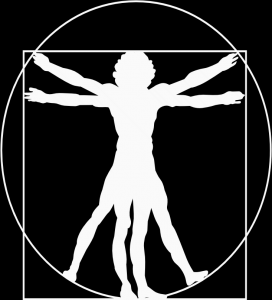 Vetruvian Man White on Black cropped